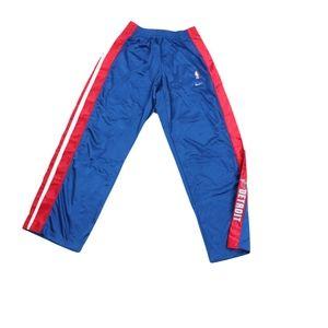 Vtg New Nike Mens XL Detroit Pistons Pants Blue